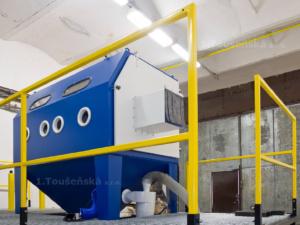 platform for blasting machine TB 200