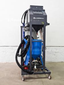 pneumatic abrasive delivery system for sandblasting cabine type 3,