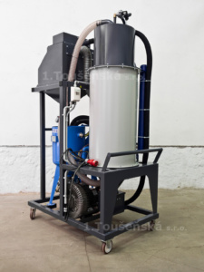 pneumatic abrasive delivery system for blast machines type 3,