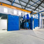 blasting room for corundum and glass bead blasting