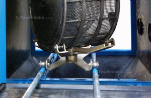 turntable for barrel blasting