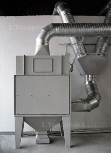 dust collector with four cartridges