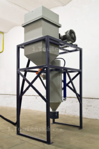 pneumatic abrasive delivery system for blast cabinets type 2