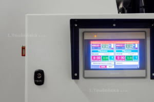 touch screen for controlling the tumble dry machine