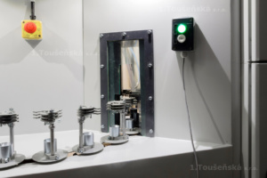 an opening for satellites´ entry inside the cabinet