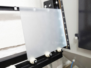 pass through cabinet with integrated roller tracks