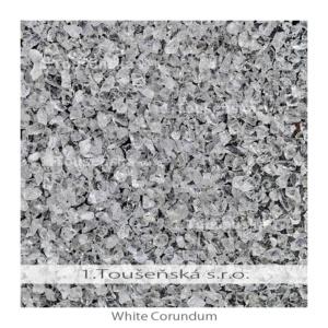 white corundum (aluminium oxide) -mineral blasting material