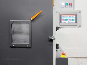 control panel of the tumble blasting machine